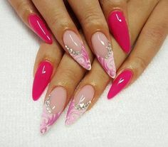 60 gorgeous nail art designs that you will really love - Styles latest Beautiful Nail Polish, Fabulous Nails, Gorgeous Nails, Pretty Nails, Classy Nails, Fancy Nails, Bling Nails, Nail Polish Designs, Nail Art Designs