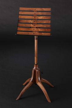 Sam Maloof Studios  music stand ... oh, I dream!  Also, Sam Maloof is amazing.