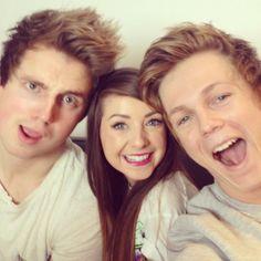 Marcus, Zoella, and Caspar! ❤