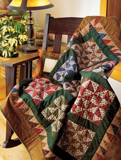 Broken Dishes - This scrappy quilt showcases a delightful assortment of favourite fabrics.