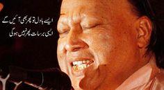 Ase badal Nfak Lines, Nusrat Fateh Ali Khan, Qoutes, Lyrics, Poetry, Exercises, Paintings, Deep, Nice