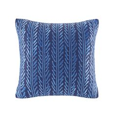 The Echo Shibori Square Pillow is the perfect element to achieve a simple yet sophisticated look. An enticing linear design in a vibrant blue hue adorns the pillow on a navy ground, adding appealing texture to your bedspread. Part of the Echo Shibori Bedding Collection, this square pillow is the perfect addition to any space in your home.
