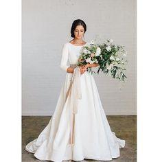 She's called Loretta  the dress, not the girl  designer @chantellaurendesigns #modestbride