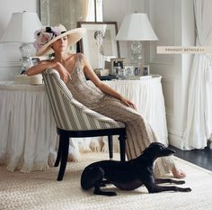 Modern elegance mixed with 1940s glamour | I love the dark floors with light carpets and white walls.