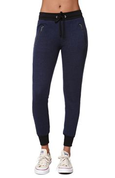 """The LA Hearts Speckled Jogger Pants for women ade for PacSun and PacSun.com feature a drawstring waistband and contrast waistband. We love the zip pocket detail.10"""" rise25"""" inseamMeasured from a size smallModel is wearing a smallHer Measurements: Height: 5'9"""" Bust: 34"""" Waist: 24"""" Hips: 34""""60% cotton, 40% polyesterMachine washableImported"""