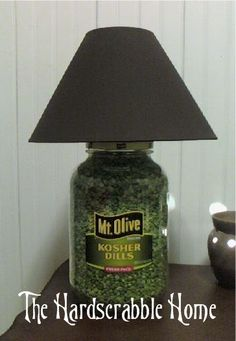 LOL... a gallon pickle jar is a lamp?? Too awesome. The Hardscrabble Home