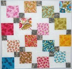 Floating Squares Stroller Blanket By: Jen Eskridge from reannalilydesigns.com Updated-Use some cute charm quilt fabric to piece together a design that you know an expecting mother will love and be proud to show off on her stroller. Easy baby quilt patterns like this give you helpful alternatives to simply making a regular baby quilt. Quilt Size: 26 inches wide x 26 inches long
