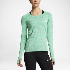0a11b6f7070c Nike Dri-fit Knit Long-Sleeve Running Top - Green S