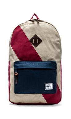 Herschel Supply Co. Studio Collection Heritage Backpack in Bone & Navy & Burgundy
