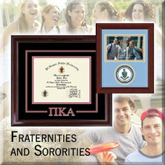 There is an array of certificate frames, photo frames and desk accessories customized with your fraternity or sorority's name, Greek letters, and/or logo. Search for your Greek organization today!