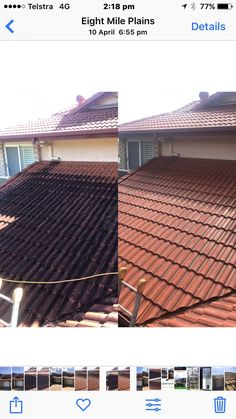 Roof cleaning, pressure cleaning, house washing Brisbane and Gold Coast.
