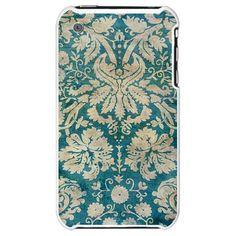 Antique Grunge Damask iPhone Case
