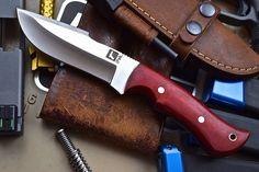 CFK iPak USA Custom Handmade D2 Survival Hunting Skinning EDC Knife Fire Starter | eBay