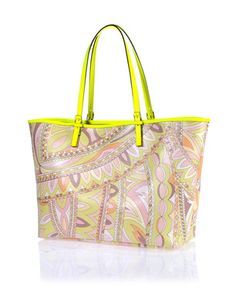 Unusual Pucci yellow pastel print shoulder bag $590