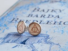 Deathly Hallows Earrings - Harry Potter - Resin earrings