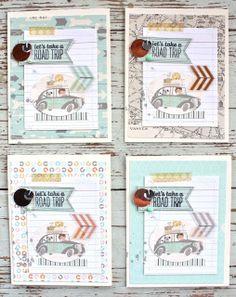 Mish Mash: August Gossamer Blue.....road trip cards
