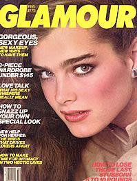 Brooke Shields covers Glamour, February 1981.