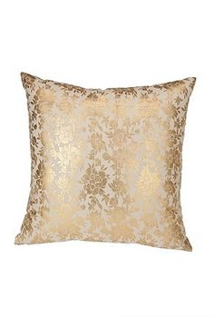 Gold foiled Floral Pillow,Urban Outfitters
