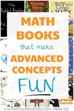 Math picture books also help older kids understand complex math concepts. Math Teacher, Math Classroom, Teaching Math, Math Literacy, Teaching Strategies, Preschool Learning, Future Classroom, Classroom Ideas, Math Literature