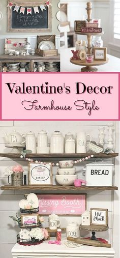 Farmhouse Style Valentine's Decor – Beauty For Ashes Farmhouse Style Valentine's Decor – Beauty For Ashes,new house ideas! Using pinks, whites and golds in Valentine's Decor to create a farmhouse style. It only takes. Valentines Day Food, My Funny Valentine, Valentines Day Decorations, Valentine Day Crafts, Valentine Ideas, Easter Crafts, Valentine's Day Quotes, Vintage Farmhouse, Farmhouse Style