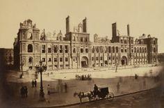 l'hôtel de VIlle après l'incendie. Collard Hippolyte Auguste