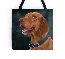 My #Vizsla painting looks great on a #tote #bag and on other products.  #portrait #painting #smile #dog #doglovers