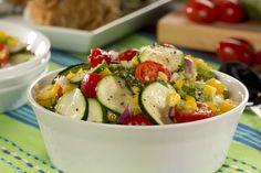 Confetti Zucchini Salad   mrfood.com