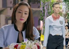 "Choi Ji-Woo 최지우 in ""Temptation"" Episode 2.  Dior Spring/Summer 2014 Jacket #Kdrama #Temptation 유혹 #ChoiJiWoo"