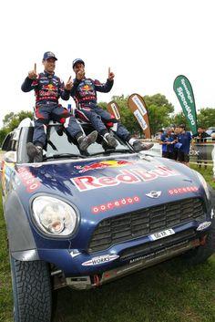 Sieger der Rallye Dakar 2015: Nasser Al-Attiyah und Mathieu Baumel (Foto: X-Raid)