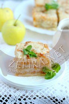 Постный насыпной яблочный пирог - рецепт и фото