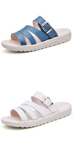 Us Size 5 10 Casual Beach Slipper Leather Breathable Sandals N Gin 8217