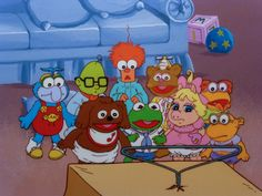 """Rare Jim Henson's Muppet Babies Cel Setup from """"I Want My Muppet TV."""""""