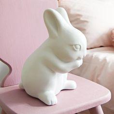Porcelain Rabbit Lamp by Koko Kids. #rabbitlamp