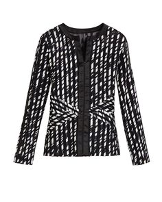 Chico's Allure Black-and-White Jacket  #chicossweeps