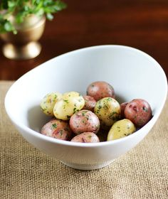 Recipe: New Potatoes with Herbs and Anchovy Butter