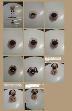step by step miniature dollhouse Dog tutorial, polymer clay