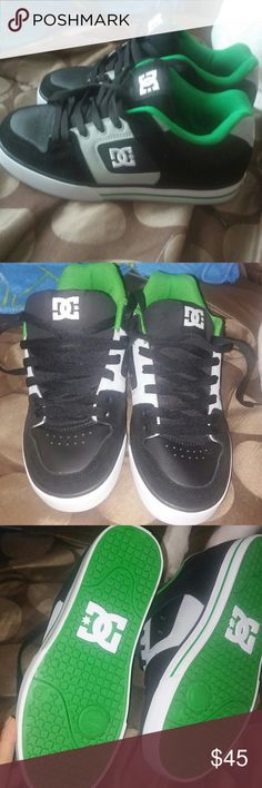 DG sneakers Green black and gray.Brand new. Kid got them as a gift and doesn't wear these type of shoes. DG Shoes Sneakers