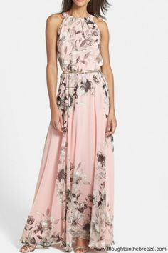 $24.57 on SALE Charming Floral Printed Sleeveless Maxi Dress. chicnowa