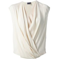 LANVIN draped sleeveless top found on Polyvore