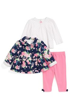 Little Me Jacket, Top & Leggings (Baby Girls) (Online Only) available at #Nordstrom
