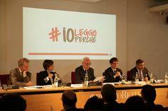 Il tavolo dei relatori alla conferenza stampa di #ioleggoperché