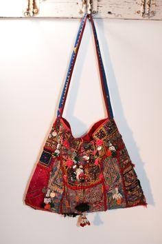 Vintage banjara fabric bag.
