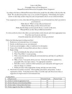 Geography Letter to the Editor Assignment Letter To The Editor, Teacher Pay Teachers, Geography, Lesson Plans, Teaching Resources, Classroom, Lettering, How To Plan, Education