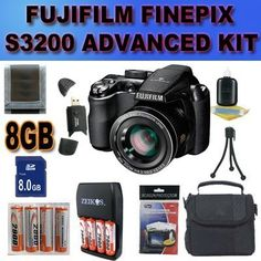 Fujifilm FinePix S4000 14 MP Digital Camera with Fujinon 30x Super Wide Angle Optical Zoom Accessory Saver 8GB NiMH Battery/Rapid Charger Bundle by Fuji. $176.69. This Kit Includes: 1- Fujifilm FinePix S4000 14 MP Digital Camera Brand New USA w/ Manufacturer's Supplied Accessories 1- 8GB SDHC Memory Card (Dont Miss a Memory!) 1- USB SDHC Memory Card Reader (Download Images Quicker!) 8- 2900MaH+ AA NiMH Batteries Plus Travel Rapid Charger (Shoot Longer and Stronger!) ...