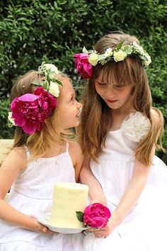 Girls garden tea party with peony floral crowns. Wedding Groom, Wedding Bridesmaids, Flowers In Hair, Wedding Flowers, Dream Wedding, Wedding Day, Girls Tea Party, Pink Balloons, Amazing Weddings