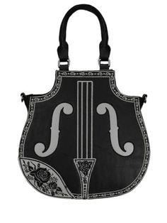 Violinen-Rosen-Kunst-Leder-Tasche-Steampunk-Bag-Victorian-Gothic-Lolita-Vintage