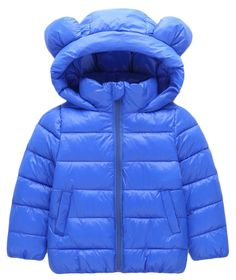 Kids Boys Girls 3D Cartoon Bear Ear Hooded Puffer Coat Down Windproof Jacket size 4-5Years/120 (Blue). 1. Material: cotton blend and polyester. 2. Design: 3D Cartoon Bear Ear Design, Full Zip Front Closure, Puffer,Thicken Down,Hooded Coats, Long Sleeve, Perfect To Keep Warm. 3. Waterproof Windproof Fabric,Machine Wash Cold Tumble Dry Low Do Not Bleach. 4. Season:Spring, Autumn, Winter,Best birthday, New Year Chritmas Gift For Your Kids Boys Girls. 5. Package Including: 1*Kids Girls Down…