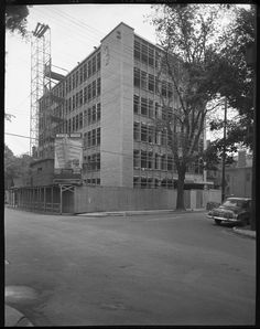 """It's the """"Medical House"""" building going up on O'Connor at the corner of MacLaren in 1955. (City of Ottawa Archives CA033776)."""