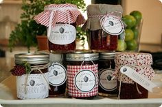On a day I'm feeling extra domestic, I just might do this.  Raspberry/Strawberry Jam and free printables.