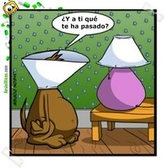 Spanish jokes for kids, chistes: El perrito y la lámpara.